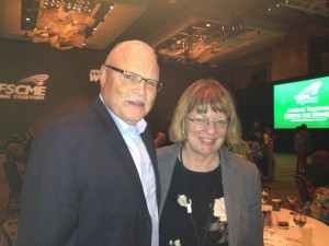 Vermont homecare provider and AFSCME supporter, Janelle Blake, with AFSCME president Lee Saunders at the National Women's Conference in Denver.